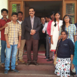 PIA President with Students