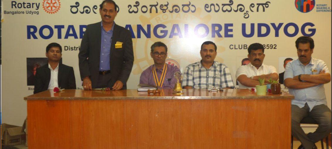 PIA President Speech at Rotary Bangalore Udyog