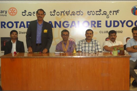 PIA President Speech at Rotary Bangalore Udyog