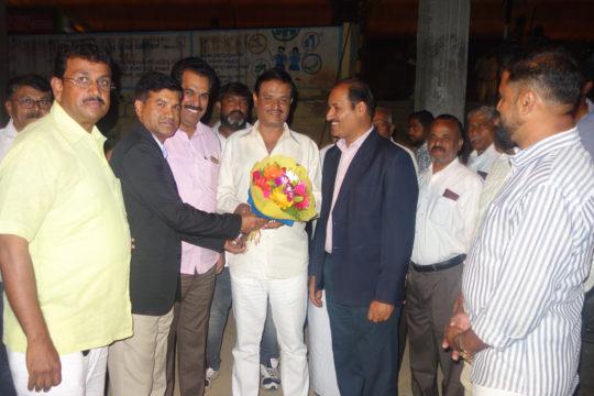 PIA President Malyadri Reddy Greeting Mr.Munirathana MLA RR Nagar Constituency