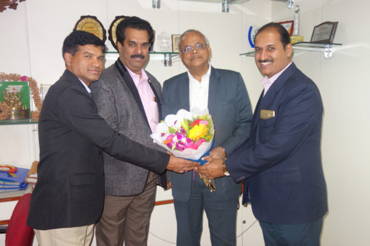 PIA Members Greeting Mr Sahu General Manager