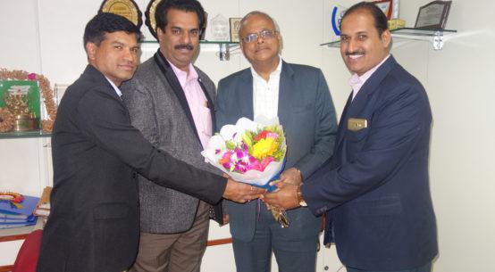 PIA Members Greeting Mr Sahu General Manager