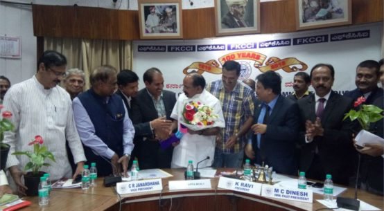Veerappa Moily with PIA President & Hon Secretory