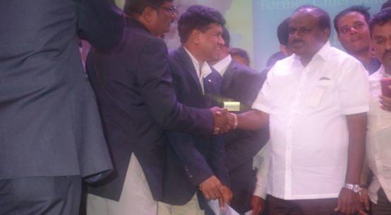 PIA Hon Secretory with HD Kumaraswamy