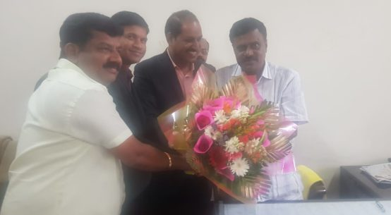 Sri Srinivas Small Scale Industries Minister with PIA President & Hon Secretory