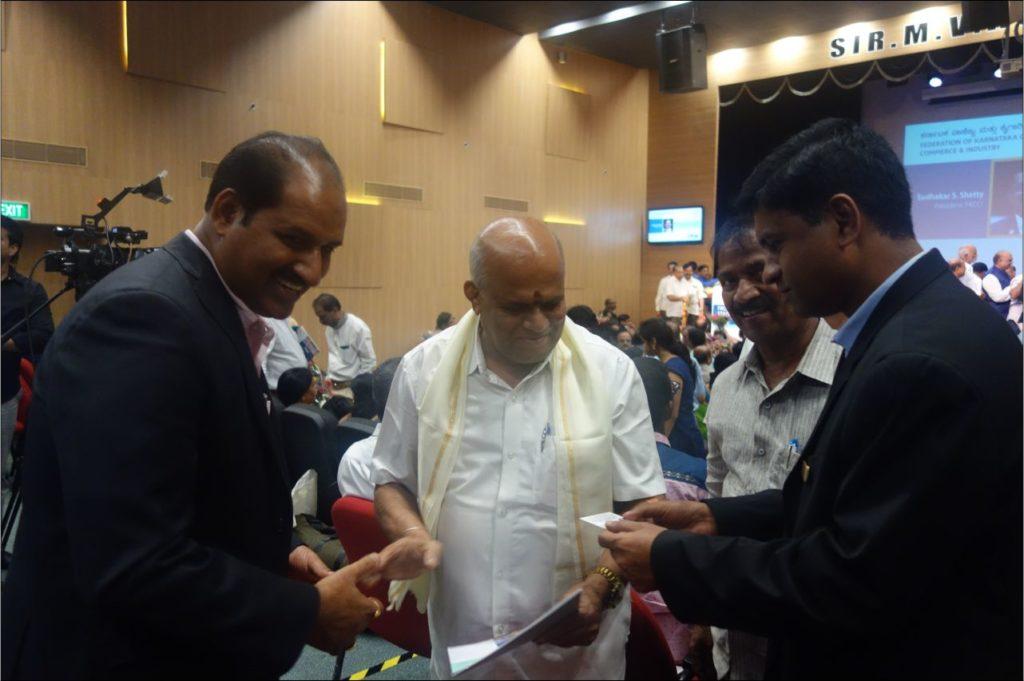 PIA - President & Hon Secretory at FKCCI Office Bangalore