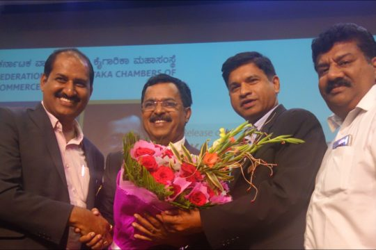 PIA - President & Hon Secretory with Sri Sudhakar Shetty of FKCCI