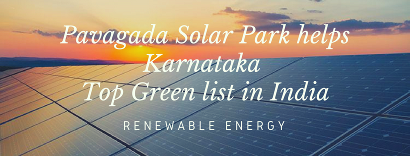 Pavagada Solar Park helps Karnataka Top Green list in India